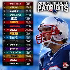 2018 #Patriots #NFL schedule released ...