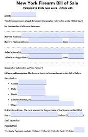 form new bill of form dmv ny