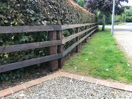 Creosote Post And Rail Frs Fencing