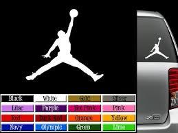 Air Jordan Jumpman Vinyl Decal Window Graphics Wall Sticker Or Etsy