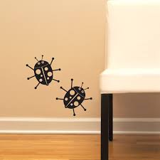 Lady Bugs Set Of Two Wall Decal Sticker Graphic