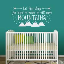 Let Him Sleep For When He Wakes He Will Move Mountains Wall Etsy