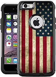 Amazon Com Teleskins Protective Designer Vinyl Skin Decals Stickers Compatible With Otterbox Commuter Iphone 6 Plus Iphone 6s Plus Case Grunge Usa American Flag Design Patterns Only Skins And Not Case