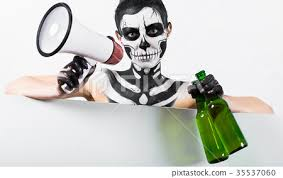 attractive with skeleton makeup