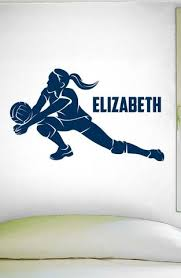 Custom Girls Name Volleyball Slide 0278 Personalized Girls Volleyba Wall Decal Studios Com