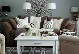 brown sofa with these creative decor