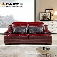 baroque red purple leather sofa set