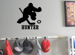 Ringette Goalie Wall Decal Personalized And Custom Made With Etsy