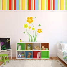 Wall Decals Flowers And Butterflies Yellow Flowers Wall Decal