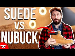 nubuck vs suede vs rough out leather