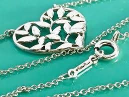 silver picasso heart olive leaf pendant