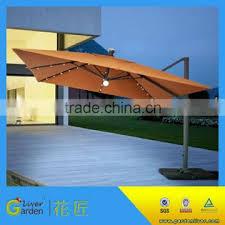 parasol with led light garden hanging