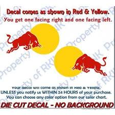 Red Bull Vinyl Decals Set Of 2 Decal For Car Truck Window Wall Decor Racing 112828771737