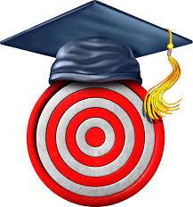 Amazon Com Simple Bullseye With Graduation Cap Cartoon Vinyl Decal Sticker 8 Tall Automotive