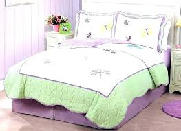 pink purple bedding and green