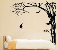 Large Black Trees And Birds Wall Stickers Decal Removable Art Home Mural Vinyl 200x190cm Bird Wall Sticker Wall Stickertree Black Aliexpress