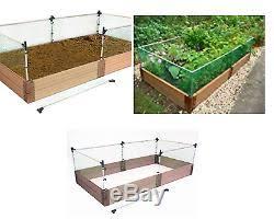 Frame It All Stainless Steel Plastic Raised Fence Animal Barrier Kit Garden Bed
