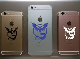 Car Or Phone Removable Sticker Pokemon Go Team Mystic Kelly S Vinyl