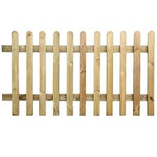 New Round Top Picket Wicket Fence Panels Various Sizes 2 3 4ft Pressure Treated Ebay