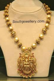 south sea pearls mala with lakshmi