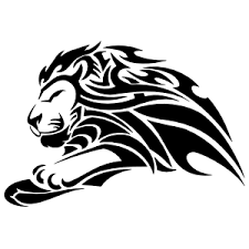 Determined Tribal Lion Sticker