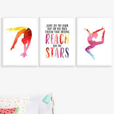 wall art canvas posters prints gymnast