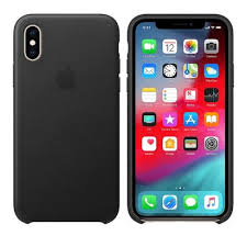 apple iphone x xs leather case black