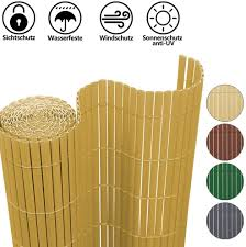Hengda Privacy Screen Pvc Fence Screen Privacy Screen Wind Protection For Garden Balcony And Terrace Shading Decorative Bamboo 100 X 300 Cm Amazon Co Uk Garden Outdoors