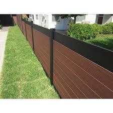 Veranda Euro Style 4 Ft X 6 Ft Black Top Black Rose Aluminum Composite Horizontal Fence Panel Ef 02102 The Home Depot