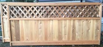 New 4 Cedar Fence Panel With Diagonal Lattice Top Saanich Victoria Mobile