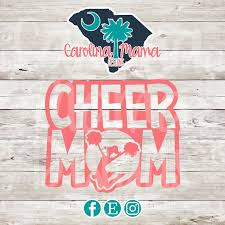 Cheer Mom Vinyl Car Decal Cheer Mom Cheer Mom Car Etsy