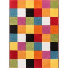 Well Woven Starbright Bright Square Multi 8 Ft X 11 Ft Kids Area Rug 09537 The Home Depot