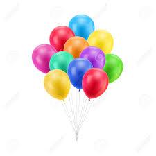 Bundel Gekleurde Ballonnen Geïsoleerd Royalty Vrije Cliparts, Vectoren, En Stock Illustratie. Image 87714049.