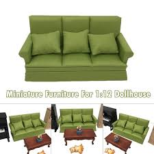 1 12 Dollhouse Miniature Furniture Sofa And Pillow Living Room Kids Play Toy Wish