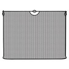 black spark guard fireplace screen