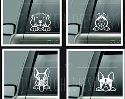Dog Car Decals Etsy