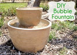 make your own outdoor bubble fountain