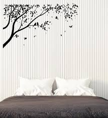 Vinyl Wall Decal Birds On Tree Branch Nature Landscape Nursery Room De Wallstickers4you