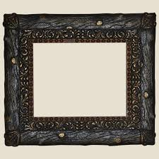 rustic faux bois wood and gesso gilt