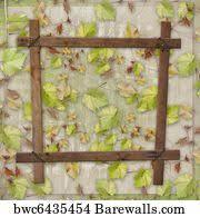 shamrock vine frame art print