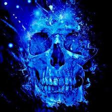 blue skull skull artwork skull art