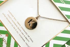 million initial pendant necklace