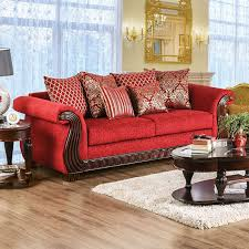 corinna ruby red sofa for