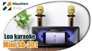 🔥 LOA KARAOKE SDRD SD-301 KÈM 2 MIC KHÔNG DÂY - YouTube
