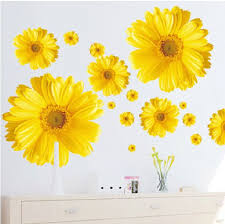 Vinyl Removable Yellow Pink Daisy Wall Decal By Easywalldecals 17 00 Wall Decor Stickers Wall Decor Decals Sticker Wall Art