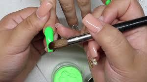 rainbow tip coffin nails acrylic nail