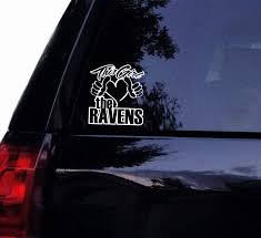 Amazon Com Ravens Football Decal Sticker This Girl Loves The Ravens Football Quote Car Decals Vinyl Window Stickers For Door Bottle Laptop Cars Wall Art Computers Accessories