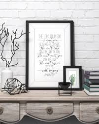 Bible Verse Wall Art The Lord Your God Is With You Zephaniah Etsy In 2020 Bible Verse Wall Art Scripture Wall Art Christian Wall Art