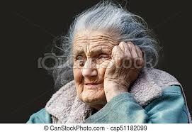 Retrato de una mujer muy vieja y arrugada. Retrato de una mujer ...
