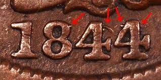 1844 Braided Hair Liberty Head Large Cent 44 Over 81 Early Copper ...